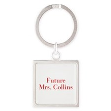 Future Mrs Collins-bod red Keychains