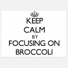 Keep Calm by focusing on Broccoli Invitations