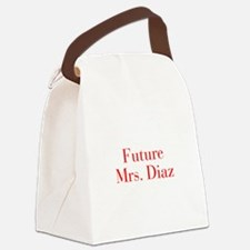 Future Mrs Diaz-bod red Canvas Lunch Bag