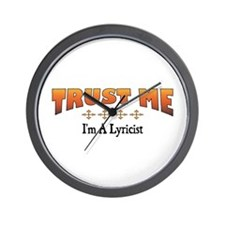 Trust Lyricist Wall Clock