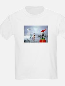 Alien Family Holiday Kids T-Shirt