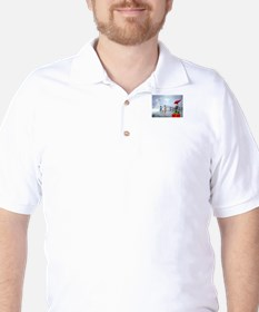 Alien Family Holiday Golf Shirt