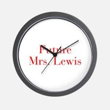 Future Mrs Lewis-bod red Wall Clock