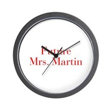 Future Mrs Martin-bod red Wall Clock