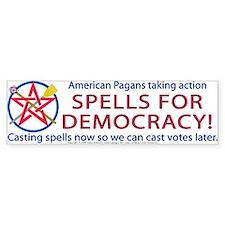 Spells for Democracy! Bumper Bumper Sticker