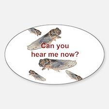 Cicada noise Oval Decal