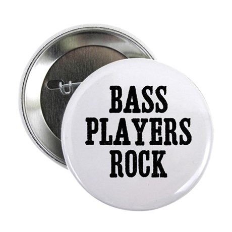 """bass players rock 2.25"""" Button (10 pack)"""