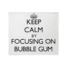 Keep Calm by focusing on Bubble Gum Throw Blanket