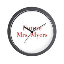 Future Mrs Myers-bod red Wall Clock