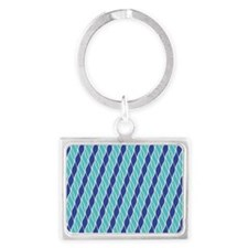 Shades of Blue Landscape Keychain