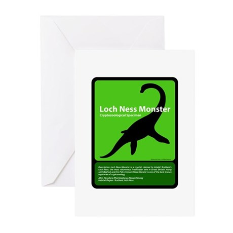 Loch Ness Monster Greeting Cards (Pk of 10)