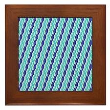 Shades of Blue Framed Tile