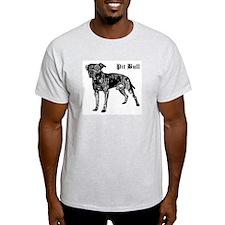 Classic Pit Bull Ash Grey T-Shirt