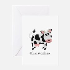 Cow Just Add Name Greeting Cards