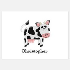 Cow Just Add Name Invitations