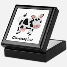 Cow Just Add Name Keepsake Box