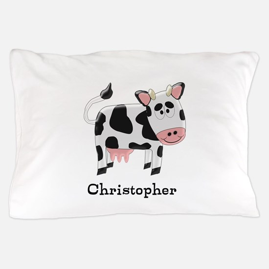 Cow Just Add Name Pillow Case