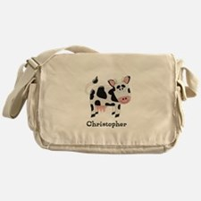 Cow Just Add Name Messenger Bag