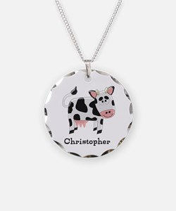 Cow Just Add Name Necklace