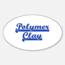 Polymer Clay Oval Decal