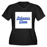 Polymer Clay Women's Plus Size V-Neck Dark T-Shirt