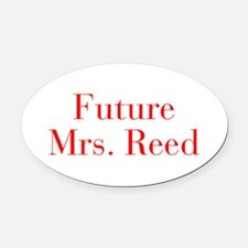 Future Mrs Reed-bod red Oval Car Magnet