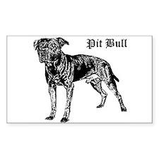Classic Pit Bull Sticker (Rect.)