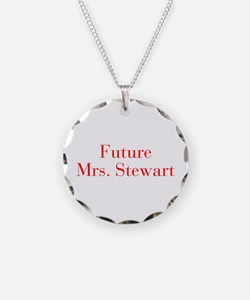 Future Mrs Stewart-bod red Necklace