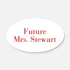 Future Mrs Stewart-bod red Oval Car Magnet