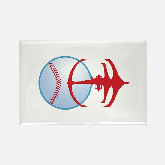 Deep Space Niners Logo Rectangle Magnet