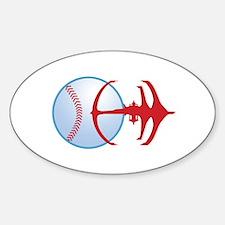 Deep Space Niners Logo Sticker (Oval)