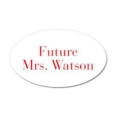Future Mrs Watson-bod red Wall Decal