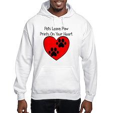 Paw Print Heart Hoodie