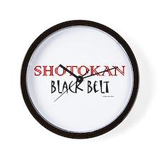 Shotokan Black Belt 1 Wall Clock