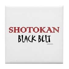 Shotokan Black Belt 1 Tile Coaster