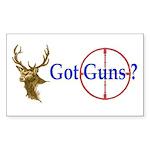 Got Guns Rectangle Sticker