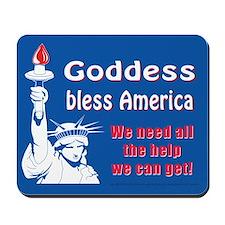 Goddess Bless America Mousepad