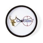 Got Guns Wall Clock