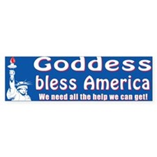 Goddess Bless America Bumper Bumper Sticker