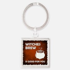 WITCHES BREW Square Keychain