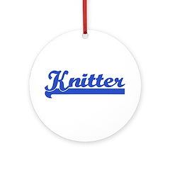 Knitter - Knitting Ornament (Round)