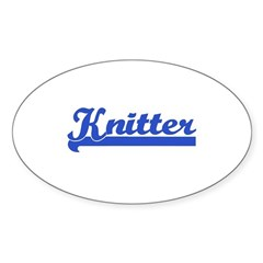 Knitter - Knitting Oval Decal