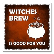 """WITCHES BREW Square Car Magnet 3"""" x 3"""""""