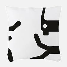Under the Bus Woven Throw Pillow