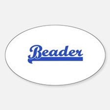 Beader - Beads & Bead Lovers Oval Decal