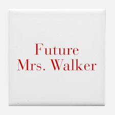 Future Mrs Walker-bod red Tile Coaster