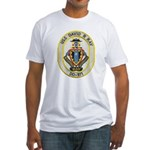 USS DAVID R. RAY Fitted T-Shirt