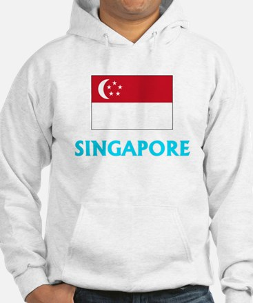 Singapore Flag Classic Blue Design Sweatshirt