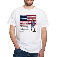 Press 1 for English? Shirt