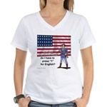 Press 1 for English? Women's V-Neck T-Shirt